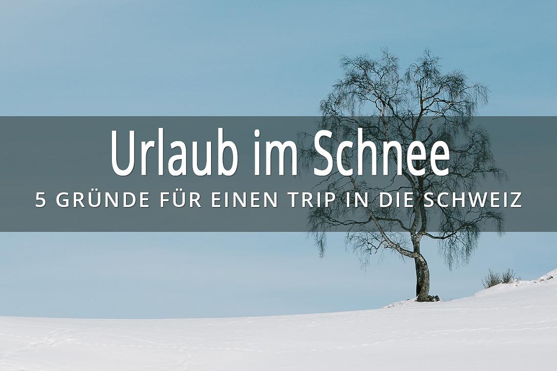 Urlaub im Schnee - 5 Gründe für einen Trip in die Schweiz