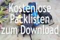 Kostenlose Packlisten zum Download