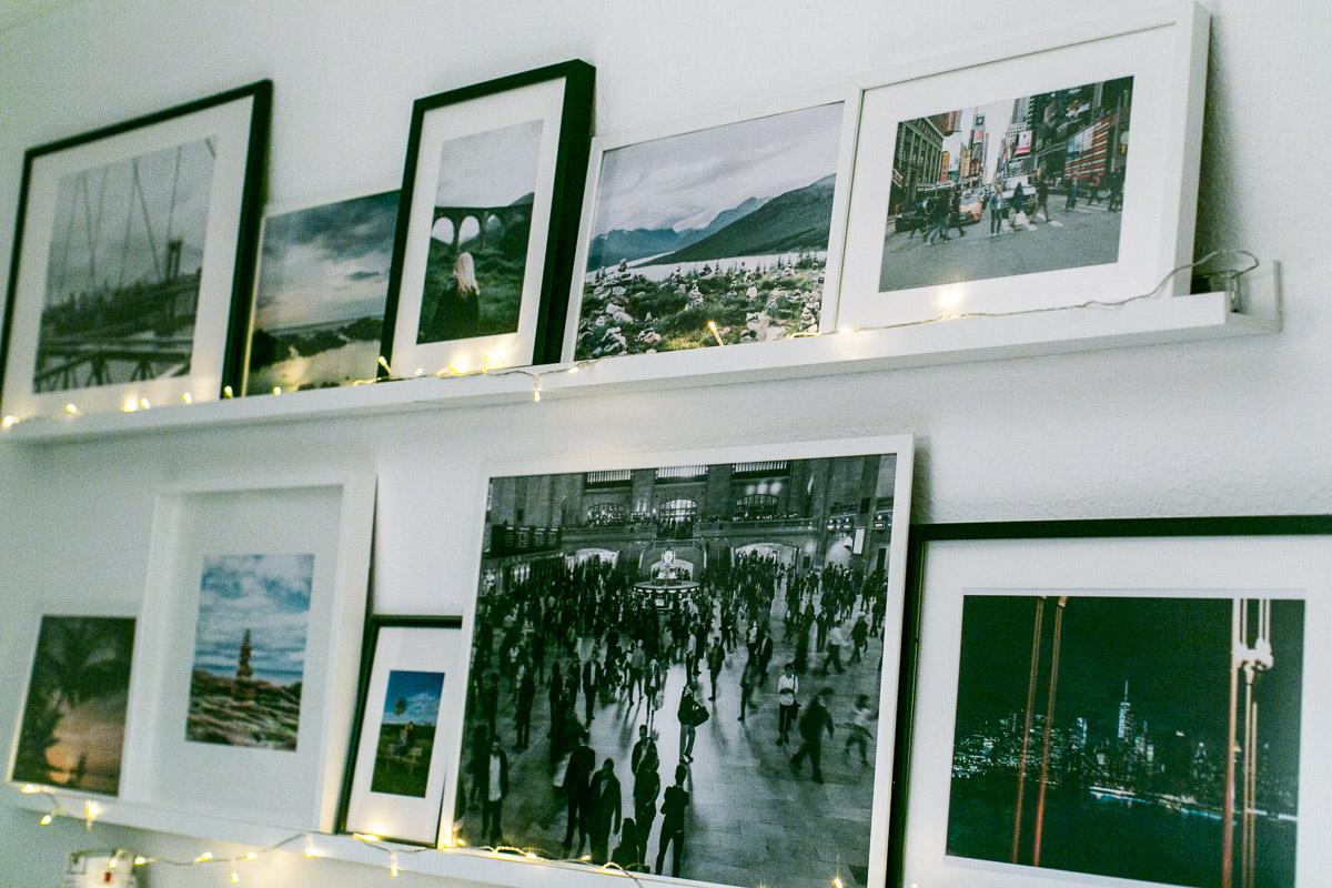 gerahmte Fotos Reise Erinnerungen