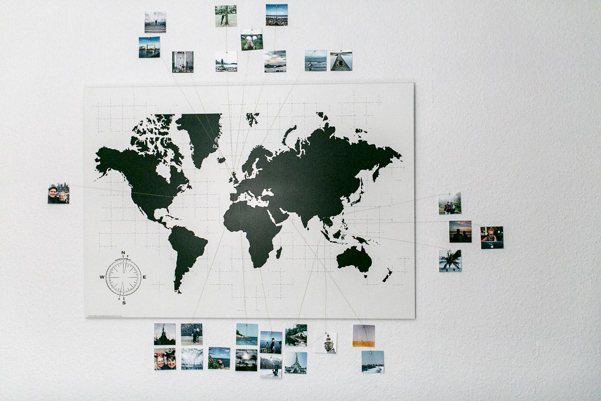 DIY Weltkarte mit Fotos