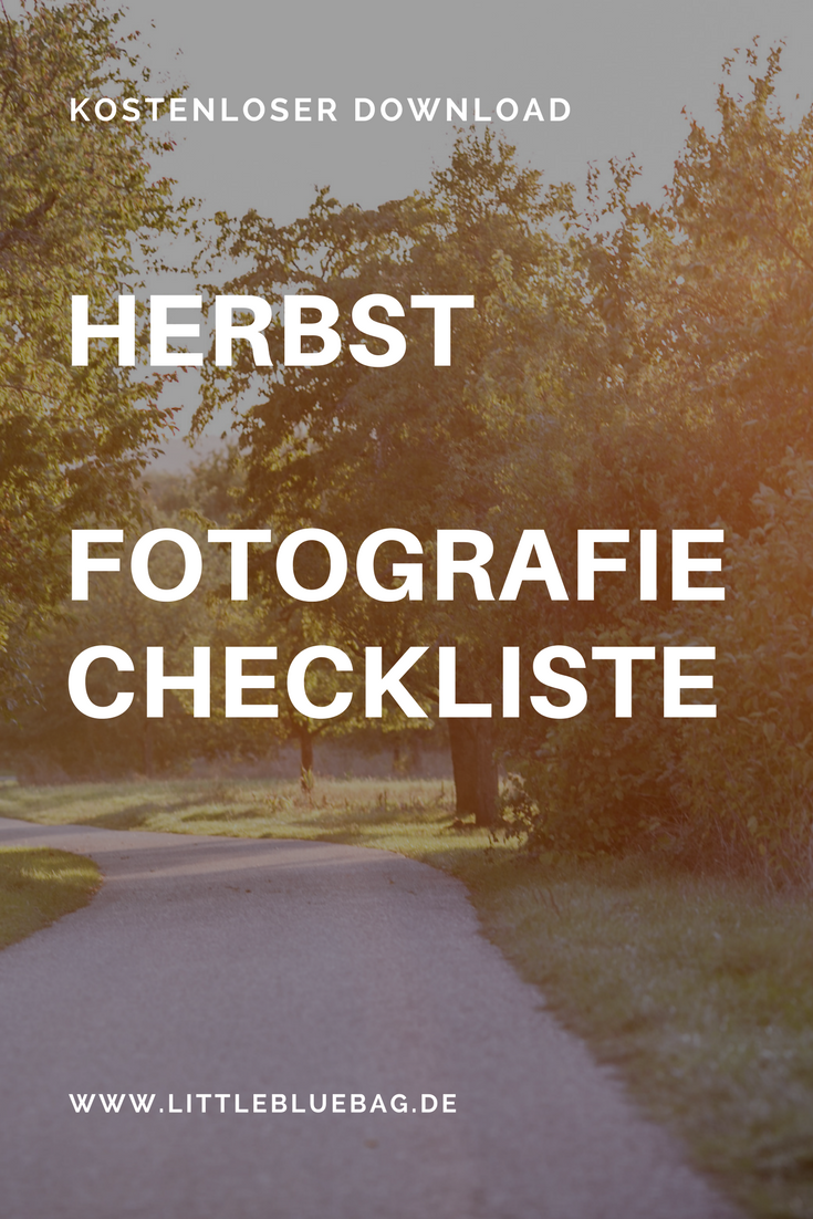 kostenlose Herbst Foto Checkliste