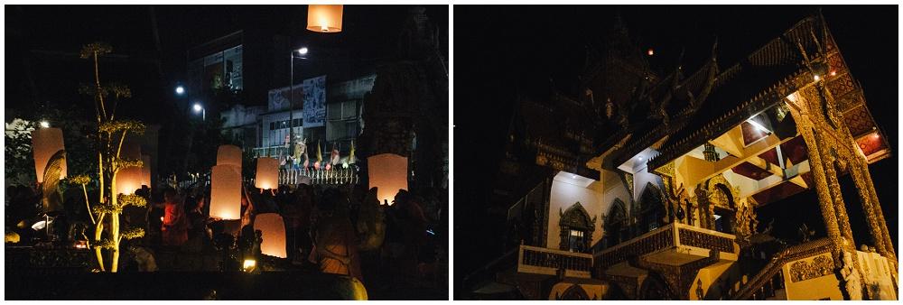 Wat Buppharam Chiang Mai Loy Krathong