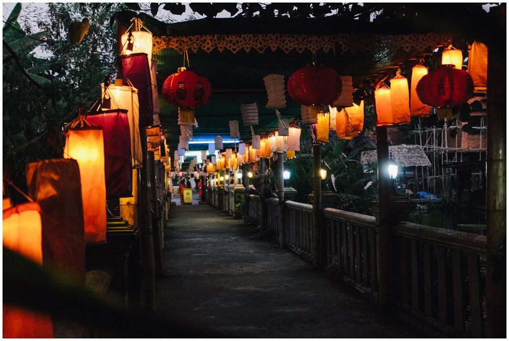 Wat Chedlin Chiang Mai Loy Krathong