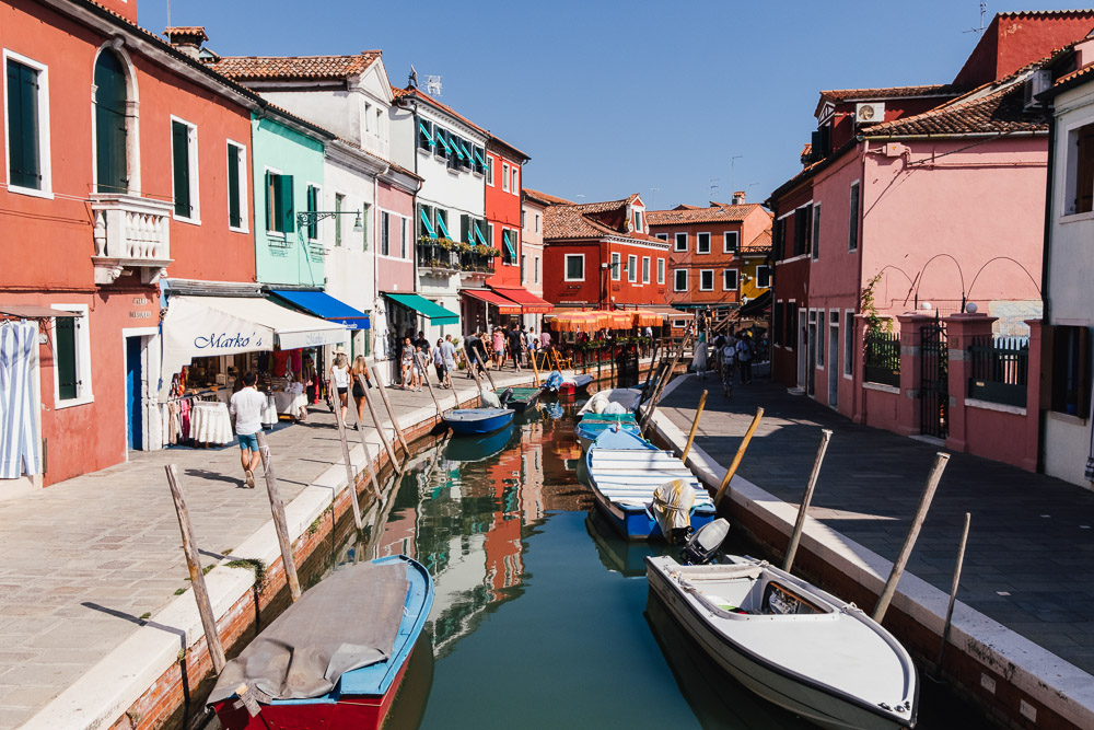 Burano Venedig bunte Häuser