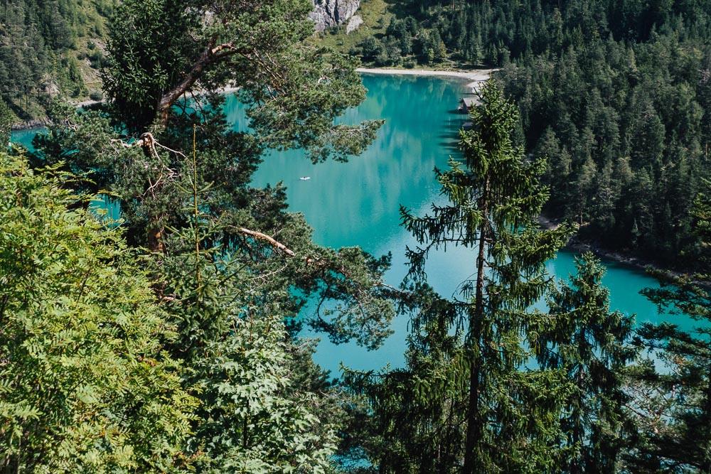 Berge Italien Blindsee Zugspitzblick