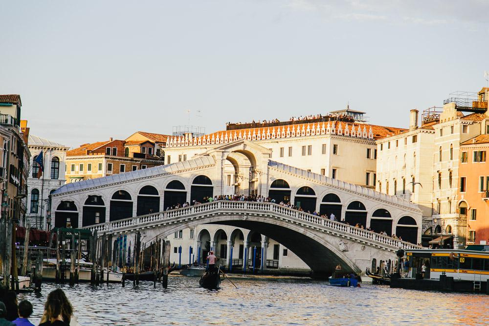 Venedig Italien Sightseeing Rialtobrücke