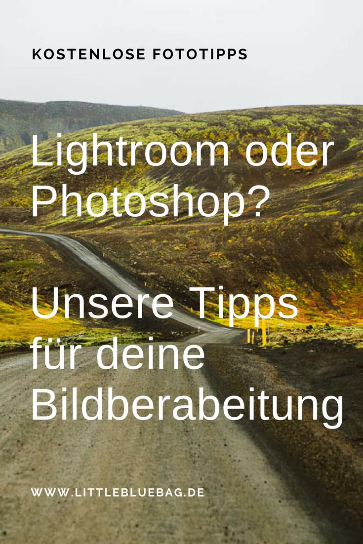 Lightroom oder Photoshop? Wir zeigen dir welches Programm wir für die Bildbearbeitung nutzen und warum. Inklusive einer kostenlosen Lektion unseres Online Fotografie Kurses. Stay marvelous, Katrin and Sandra.