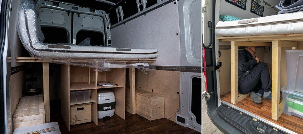 Vom Crafter zum Abenteuermobil - Ein Bett und Stauraum für ...
