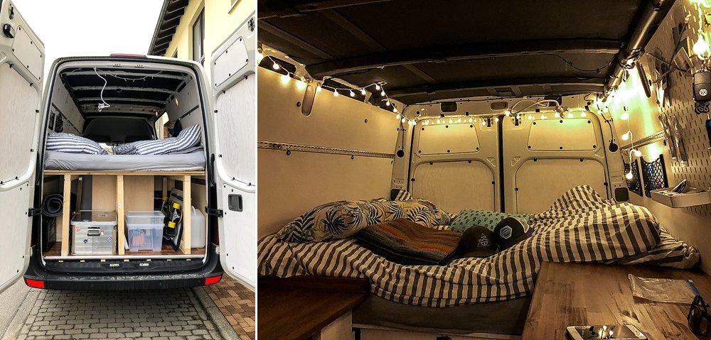 vom crafter zum abenteuermobil ein bett und stauraum f r das wohnmobil reise und. Black Bedroom Furniture Sets. Home Design Ideas