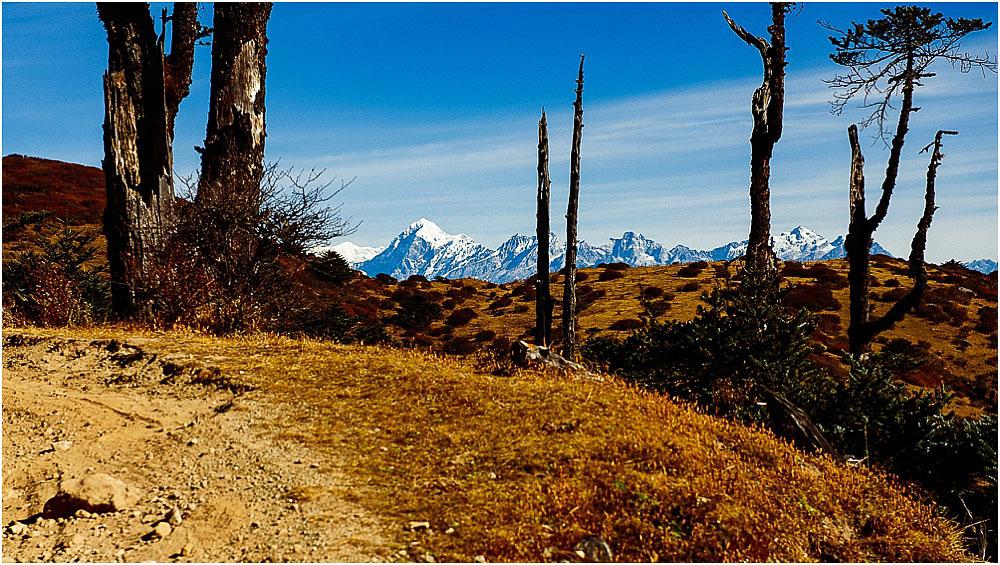 phantastischen Blick auf Everest, Makalu und Lhotse
