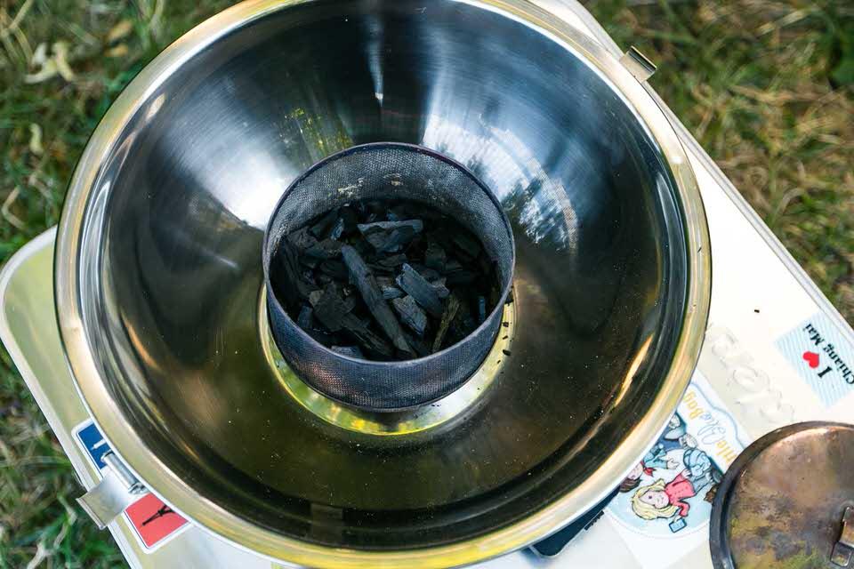 Feuerdesign grill Buchenkohle