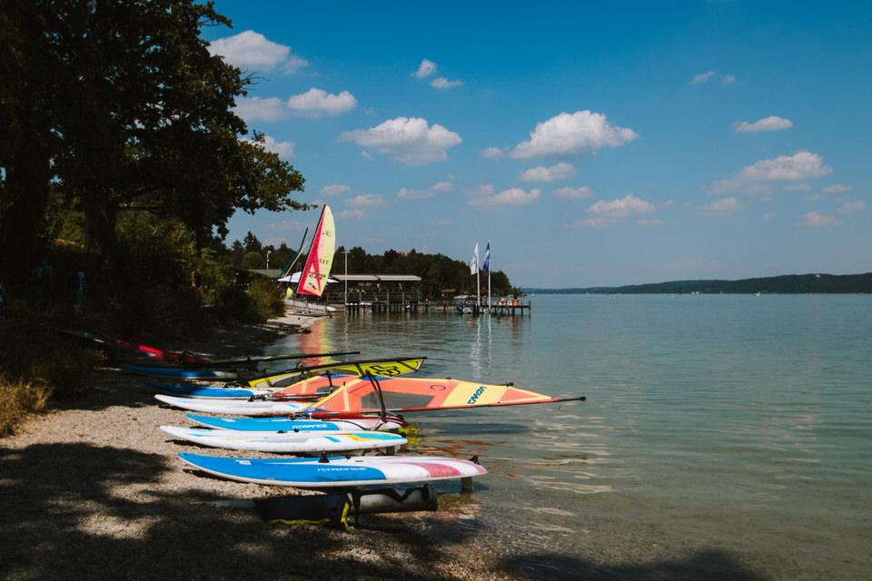 Surf und Segel Schule Tutzing Stranberger See
