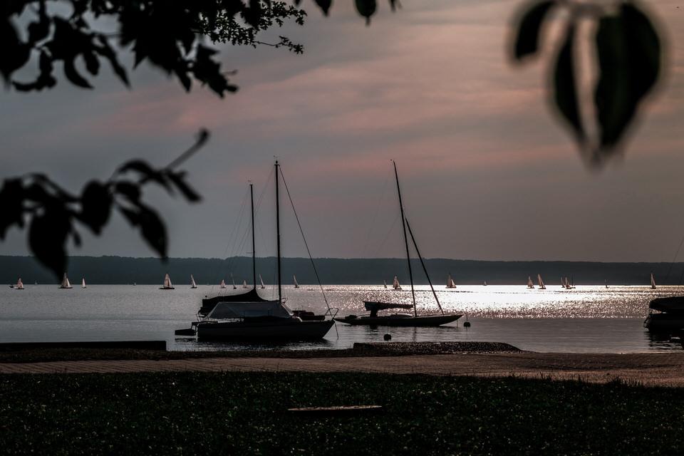 Sonnenuntergang Herrsching Ammersee