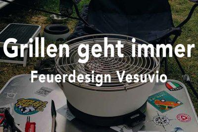 Grillen geht immer: Der Feuerdesign Vesuvio Tischgrill