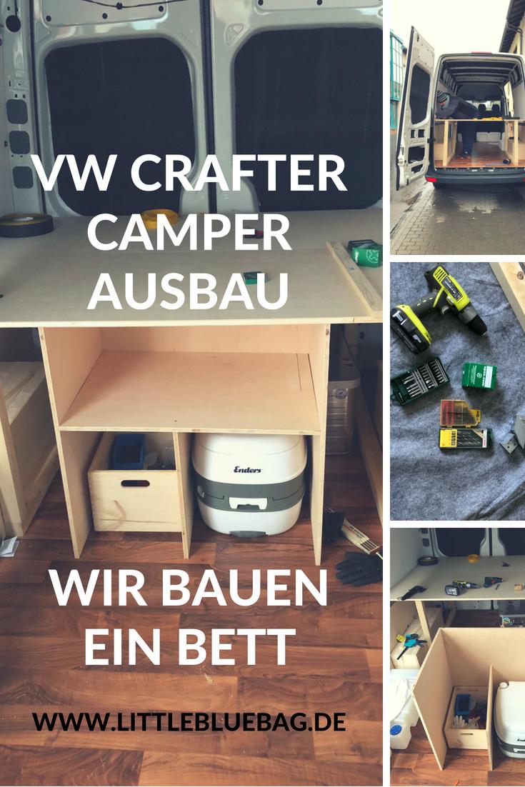 vw crafter camper Ausbau wir bauen ein Bett