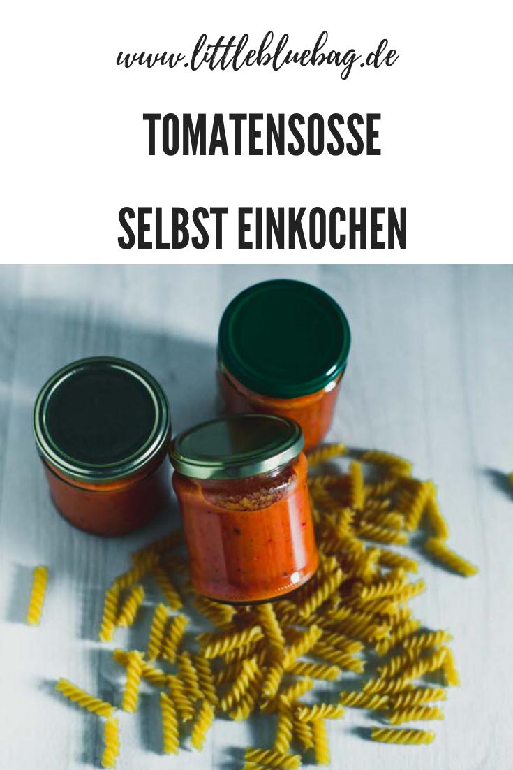 Tomatensosse fürs campen selbst einkochen. Einfach und lecker!