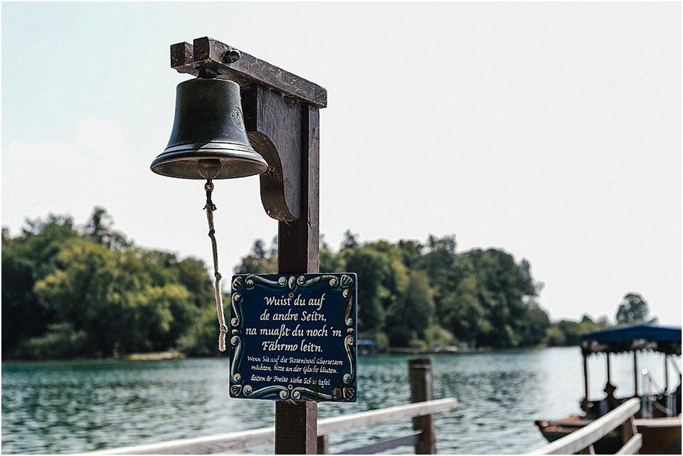 Glockensteg Fähre Roseninsel Starnberger See