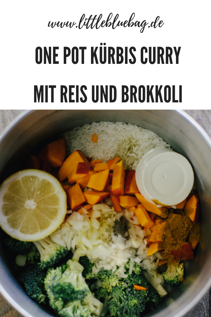one pot kürbis curry mit reis und brokkoli marvelous vankitchen
