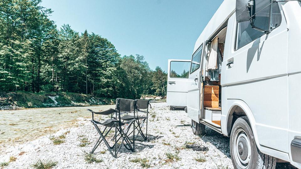Campen Vanlife Attersee Österreich