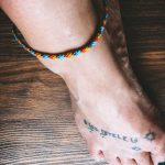 Foot Surfer Bracelet blue grey orange yellow