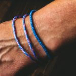 Surfer Bracelet Set blue rosa