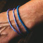 Surfer Bracelet Set blue rosa