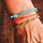 Surfer Bracelet Set grey blue yellow neon orange