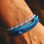 Surfer Bracelet blau hellblau flieder weiß