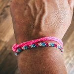 Surfer Bracelet pink blue white