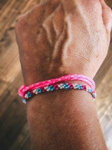 Surfer Bracelet pink blue white