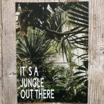 LittleBlueBag Postkarte 05 Palme Dschungel Jungel