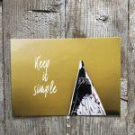 LittleBlueBag Postkarte 12 Keep it simple