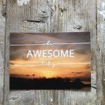LittleBlueBag Postkarte 18 be AWESOME today