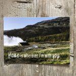 LittleBlueBag Postkarte 22 home is wherever i'm with you