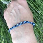 Surfer Bracelet Blakck Blue White-1