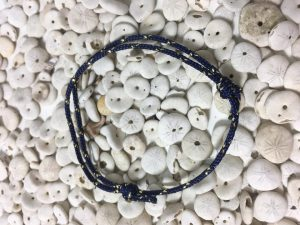 Surfer Bracelet Dark Blue Gold