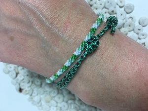 Surfer Bracelet Green White Black
