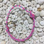 Surfer Bracelet Neon Pink Blue