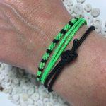 Surfer Bracelet Set Green Black