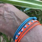 Surfer Bracelet Set Orange Blue White-1
