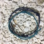 Surfer Bracelet Set Petrol Dark Blue Gold