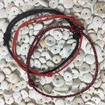 Surfer Bracelet Set Red Black