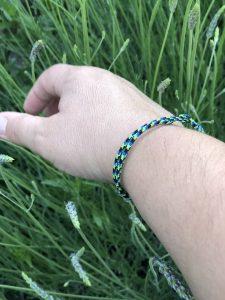 Surfer Bracelet black green blue-1