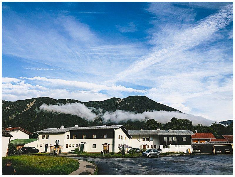 Lenggries in Bayern Tor zum Karwendel